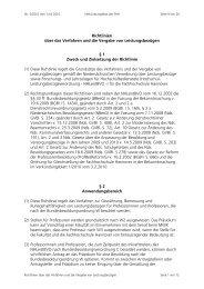 Richtlinien über das Verfahren und die Vergabe von ...