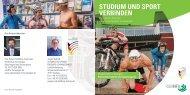 STUDIUM UND SPORT VERBINDEN - Hochschule Furtwangen