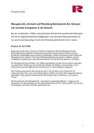 Menegola AG, Amriswil und Rhomberg Bahntechnik AG, Schweiz ...