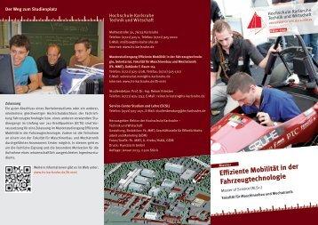 Master Effiziente Mobilität - Hochschule Karlsruhe – Technik und ...