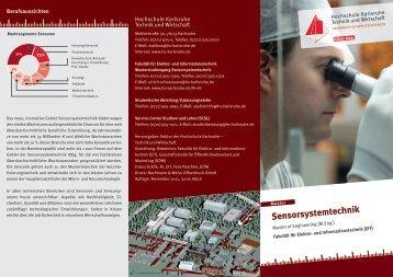 Sensorsystemtechnik - Hochschule Karlsruhe – Technik und Wirtschaft