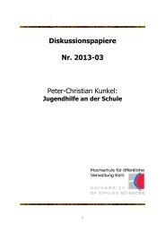 Diskussionspapiere Nr. 2013-03 Peter-Christian ... - Hochschule Kehl
