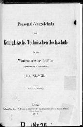 Personalverzeichnis Wintersemester 1913/14