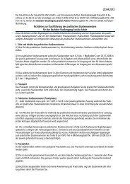 Richtlinien zur Durchführung des praktischen Studiensemesters für ...