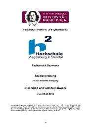 Studienordnung 12/2013 - Hochschule Magdeburg-Stendal