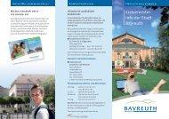 Erstsemester- Info der Stadt Bayreuth