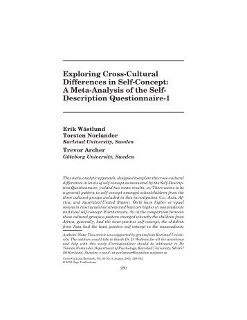 Exploring Cross-Cultural Differences in Self-Concept: A ... - www-user