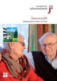 JW-Hausbroschüre Simeonsstift - Johanneswerk