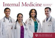 PRogRam - The University of Chicago Department of Medicine