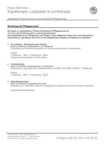 Ergotherapie, Logopädie & Lerntherapie - Praxis für Ergotherapie ...