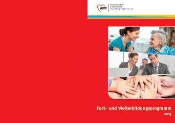 Fortbildungsprogramm 2013 - AWO Mecklenburg-Vorpommern