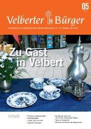 Mai 2013 - ARGE Velberter Bürgervereine