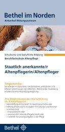 Staatlich anerkannte/r Altenpflegerin/Altenpfleger - Bethel im Norden