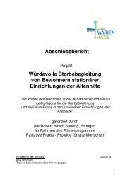 RBS Abschlussbericht Palliative Praxis (PDF) - Robert Bosch Stiftung