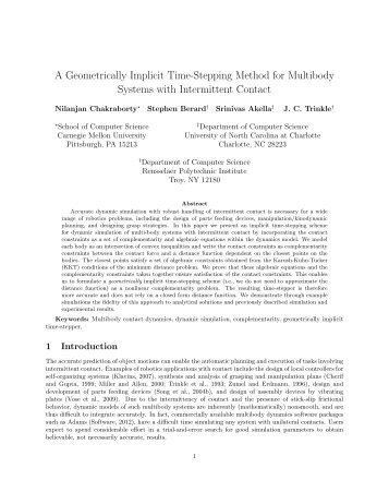 A geometrically implicit time-stepping method for multibody systems ...