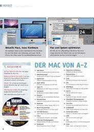 DER MAC VON AZ INHALT - Macwelt
