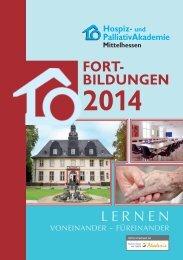 Fortbildungsprogramm mit Kursbeschreibungen für 2014 - Hospiz ...
