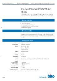 Technisches Datenblatt IB 420 - Bito AG