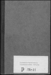 Personalverzeichnis Wintersemester 1919/20