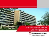 Eckwerte sozialpflegerische Berufe für Bayern