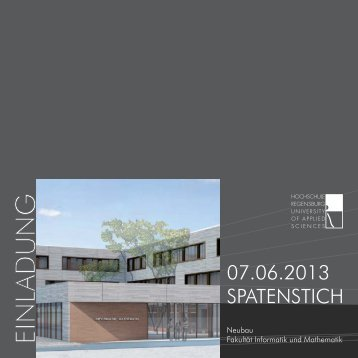 07.06.2013 SPATENSTICH TICH 07 06 - Hochschule Regensburg