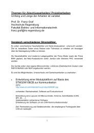 Themen für Abschlussarbeiten/ Projektarbeiten - Hochschule ...