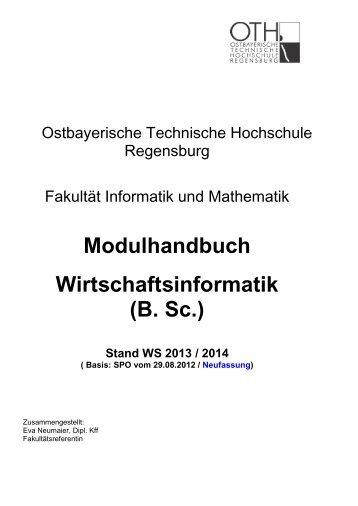 Modulhandbuch - Hochschule Regensburg