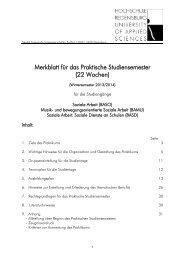 Merkblatt für das Praktikum - Hochschule Regensburg
