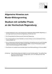 Musterbildungsvertrag Studium mit vertiefter Praxis - Hochschule ...