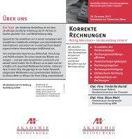 Korrekte Rechnungen - AH Akademie für Fortbildung Heidelberg ...