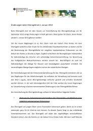 Änderungen beim Elterngeld ab 1. Januar 2013