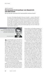 Die Eurozone im Kreuzfeuer von Maastricht und Wall Street - Neue ...