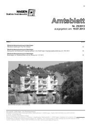 Amtsblatt Nr. 25/2013 vom 19.07.2013 - Hagen