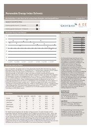 Renewable Energy Index Q1 2013 - Geothermie
