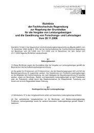 Richtlinie zur Regelung der Grundsätze für die Vergabe von ...