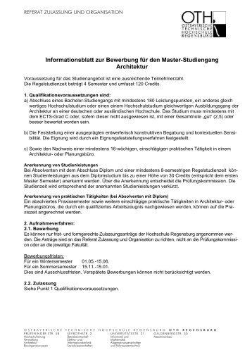 Bitte lesen! - Hochschule Regensburg
