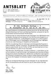 24. Juni 2011 Nr. 24 80 Jahre Musikkapelle Emerkingen e. V. 40 ...
