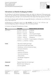 Infoblatt Eignungsprüfung Architektur - Hochschule Regensburg