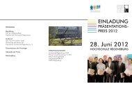 28. Juni 2012 - Hochschule Regensburg