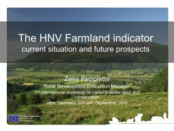 The HNV farmland indicator – current situation and future ... - EFNCP