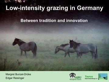 Low-intensity grazing in Germany - Bundesamt für Naturschutz