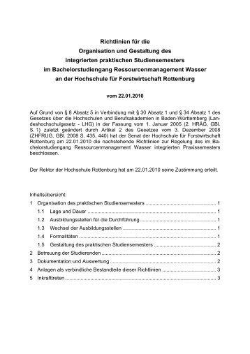 Richtlinien für die Organisation und Gestaltung des integrierten ...
