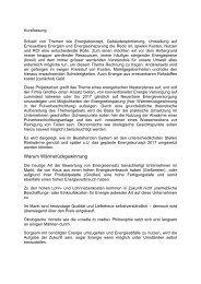 Entwurf eines Energetischen Masterplans für die Stoll Giroflex AG ...