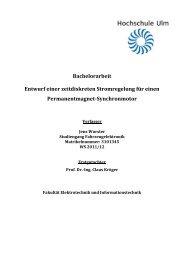 Bachelorarbeit Entwurf einer zeitdiskreten ... - Hochschule Ulm