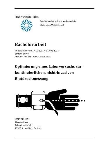 Bachelorarbeit - Thomas Elser (Hochschule Ulm)