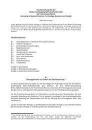 Studienordnung für den - Hochschule Wismar
