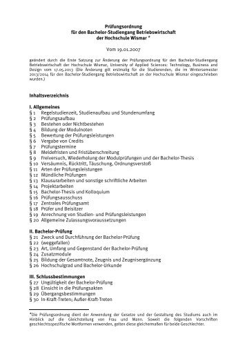 hs wismar bachelor thesis