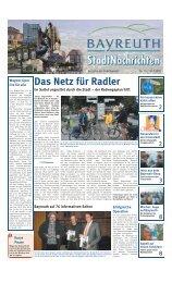 Das Netz für Radler - Stadt Bayreuth