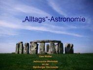 """""""Alltags""""-Astronomie - Hamburger Sternwarte"""