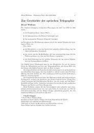 Optischer Telegraph von Chappe